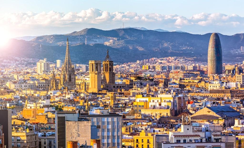 barcelona ciudad skyline cielo panoramica recurso bbva