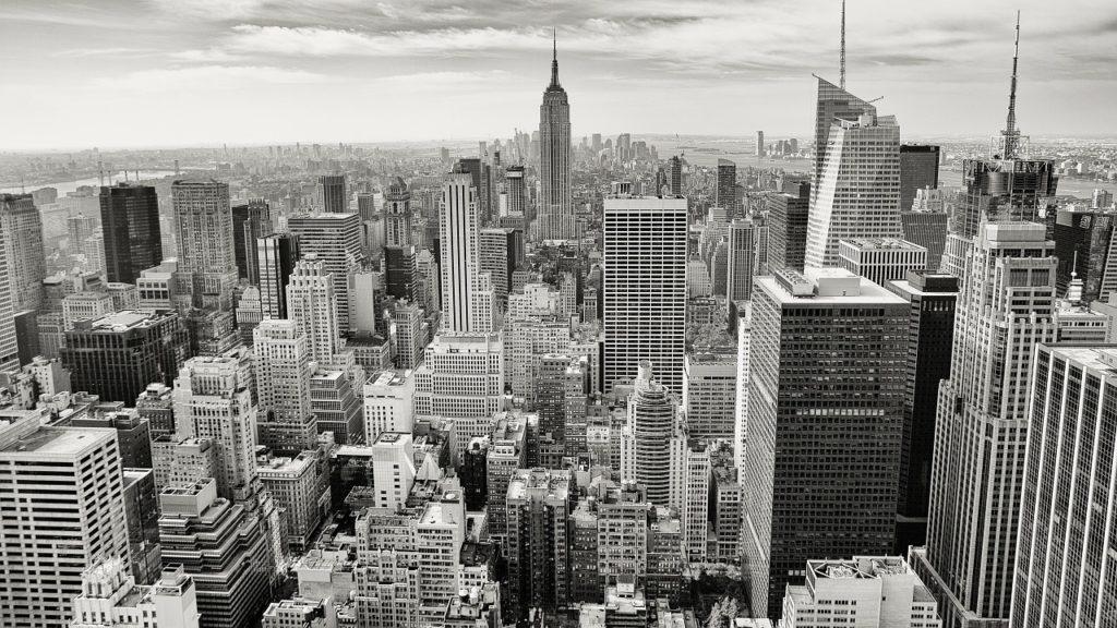 estados unidos recurso crisis financiera subprime bancario nueva york blanco y negro