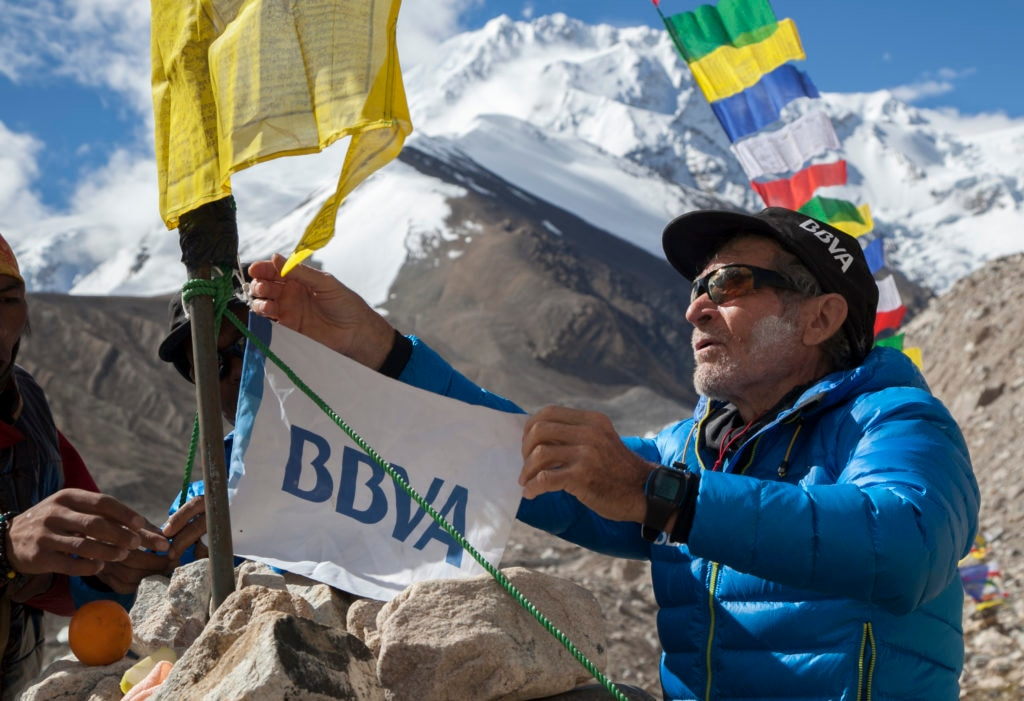 BBVA y Carlos Soria. Annapurna 2015 BBVA