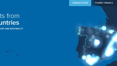 #BBVAturismo mapa análisis del gasto a partir de las transacciones