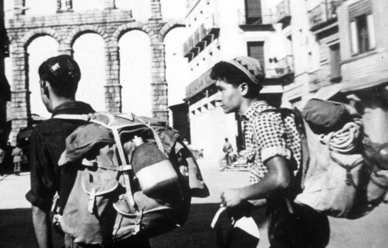 Carlos Soria, junto a Antonio en Segovia.