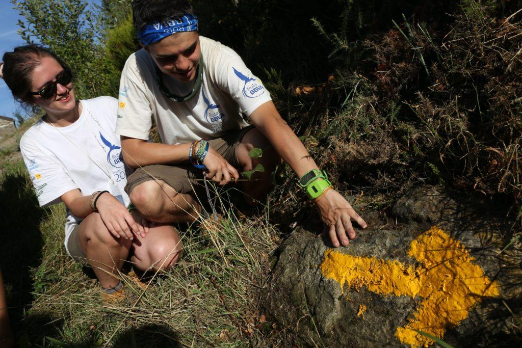 Ruteros durante el Camino de Santiago en la Ruta BBVA 2015