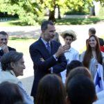 Fotografía del rey Felipe VI con la Ruta BBVA 2015