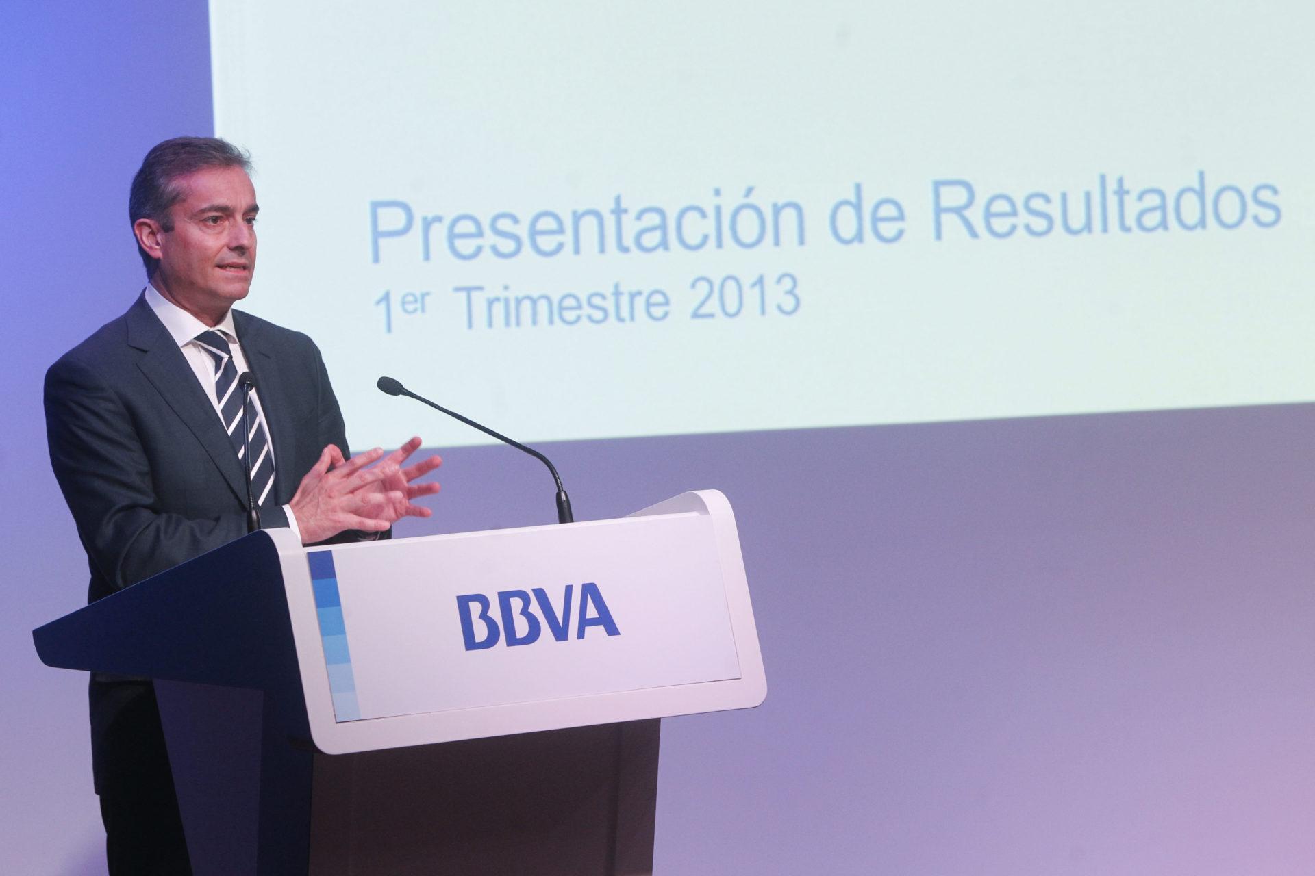 Fotografía de Ángel Cano, consejero delegado BBVA en presentación resultados 1T13