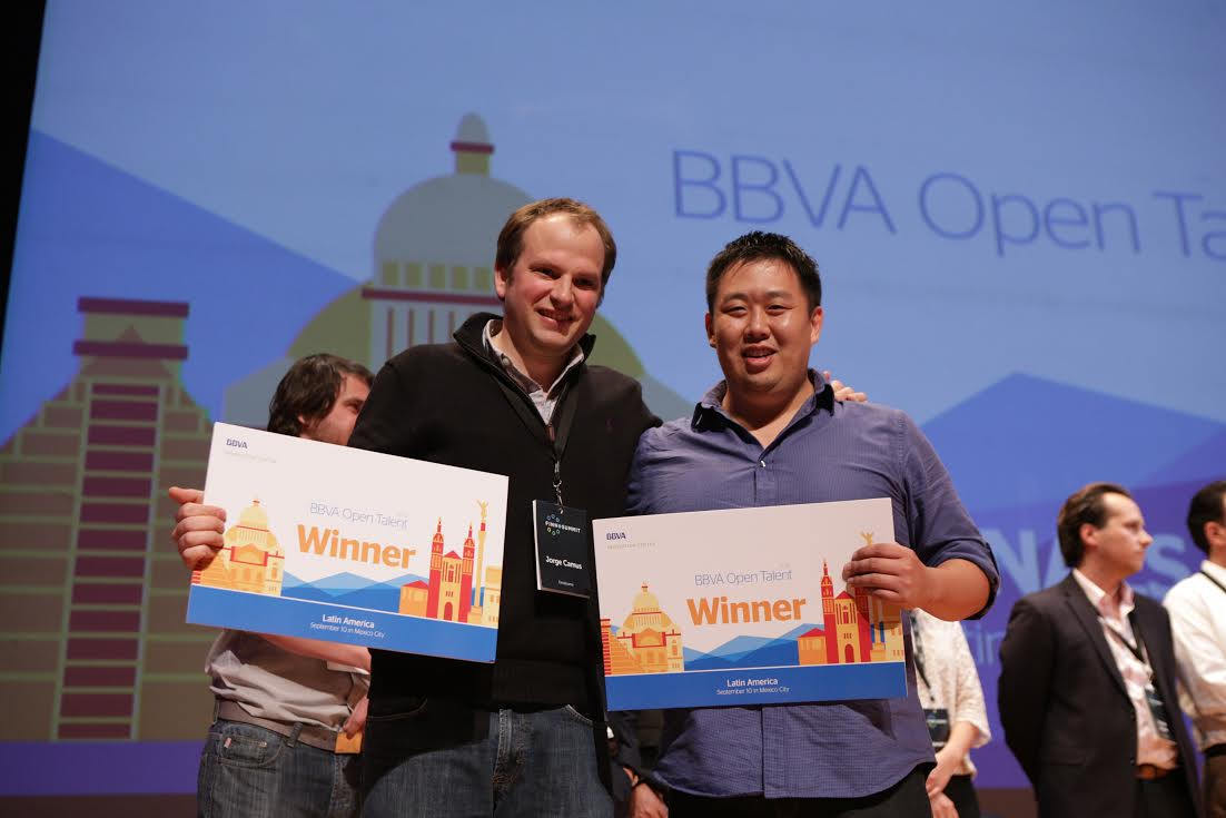 Picture of Jorge Camus, founder of destacame.cl, and Darren Camas, founder of bitnexo