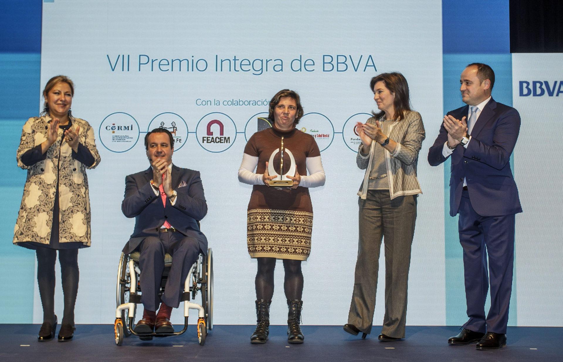 Fotografía de la ceremonia de entrega del VII Premio Integra de BBVA