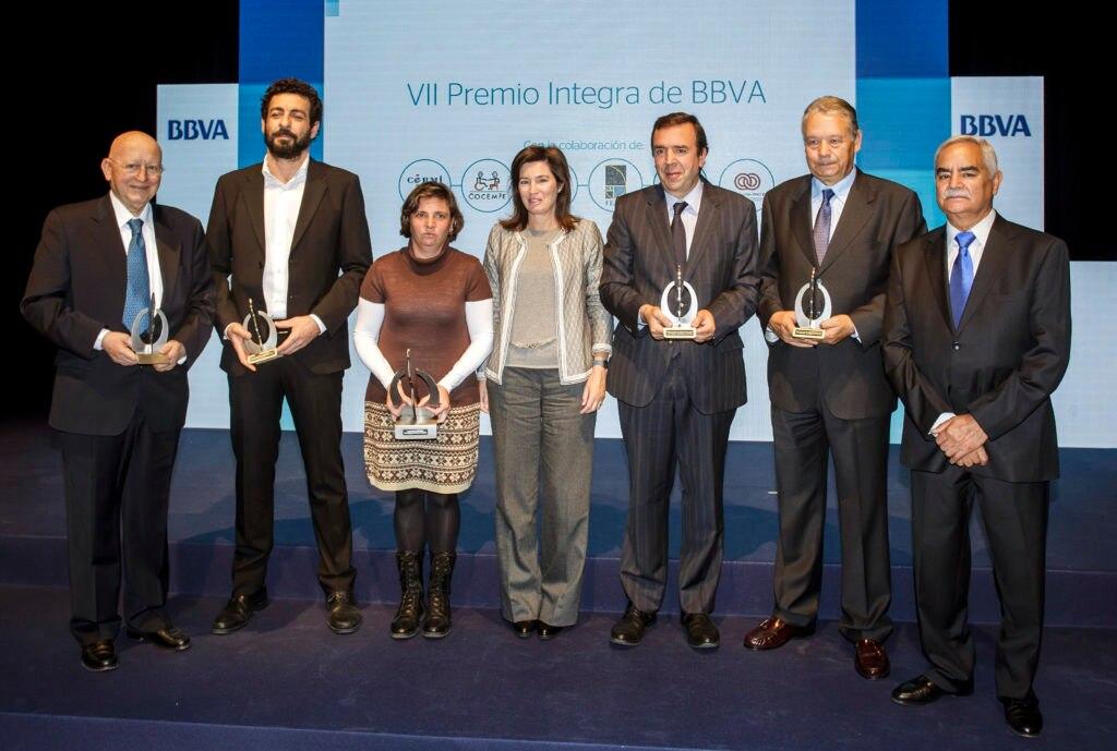 Fotografía de los ganadores de los VII Premios Integra