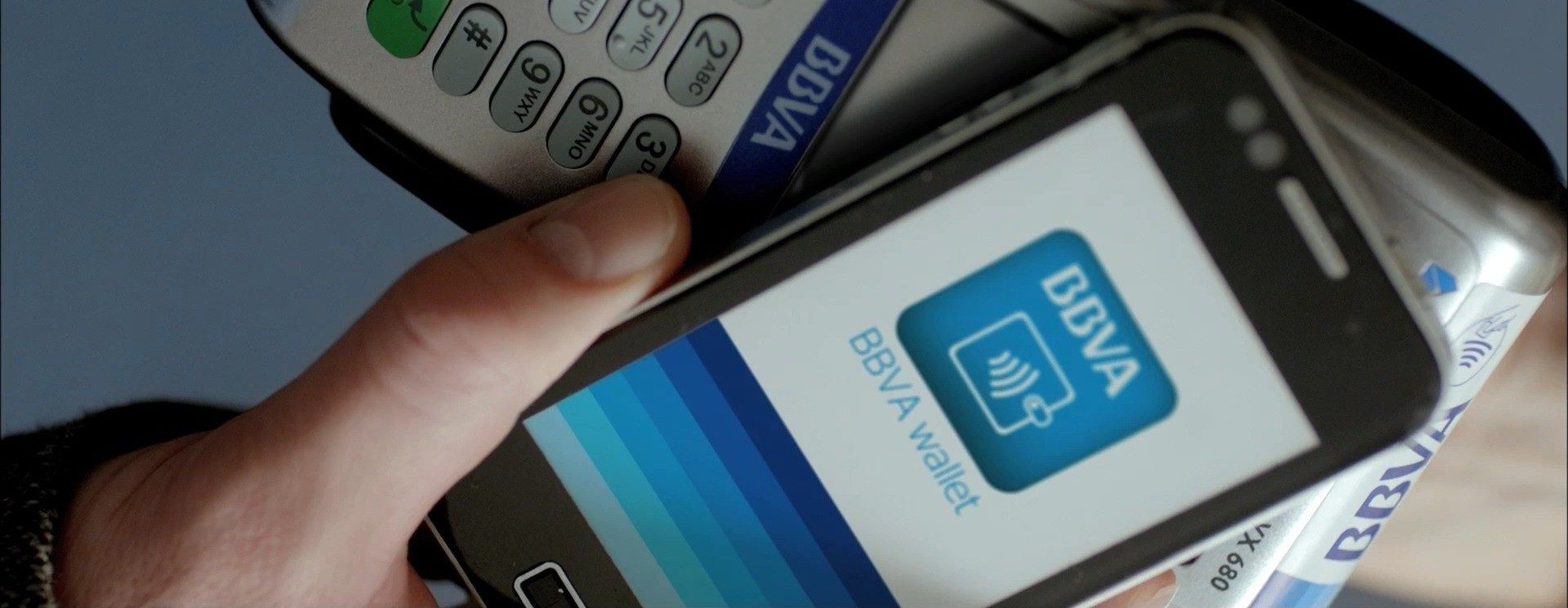 bbva wallet mobile contactless payment visa android apple ios nfc technology
