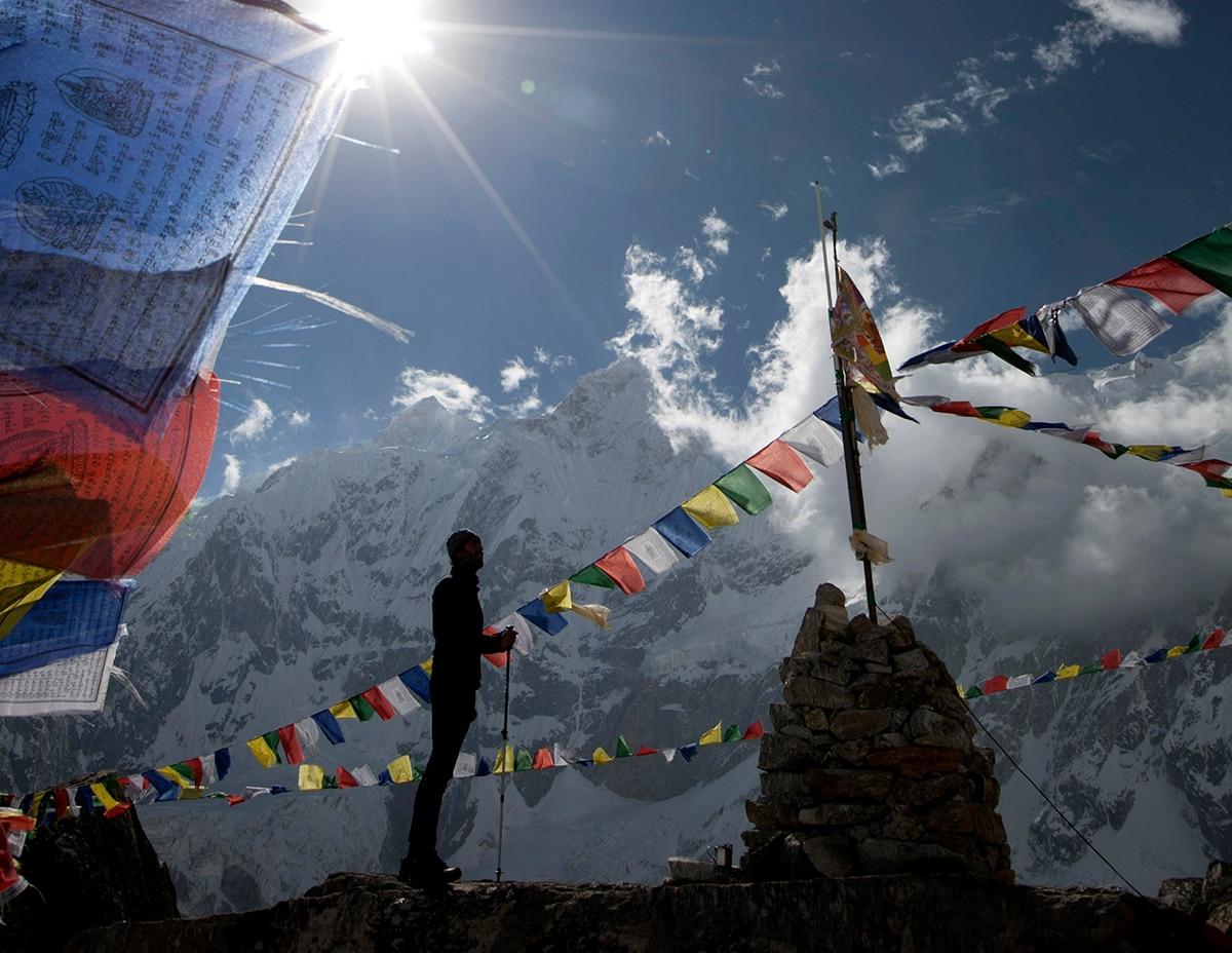 Nepal está lleno de banderas de colores