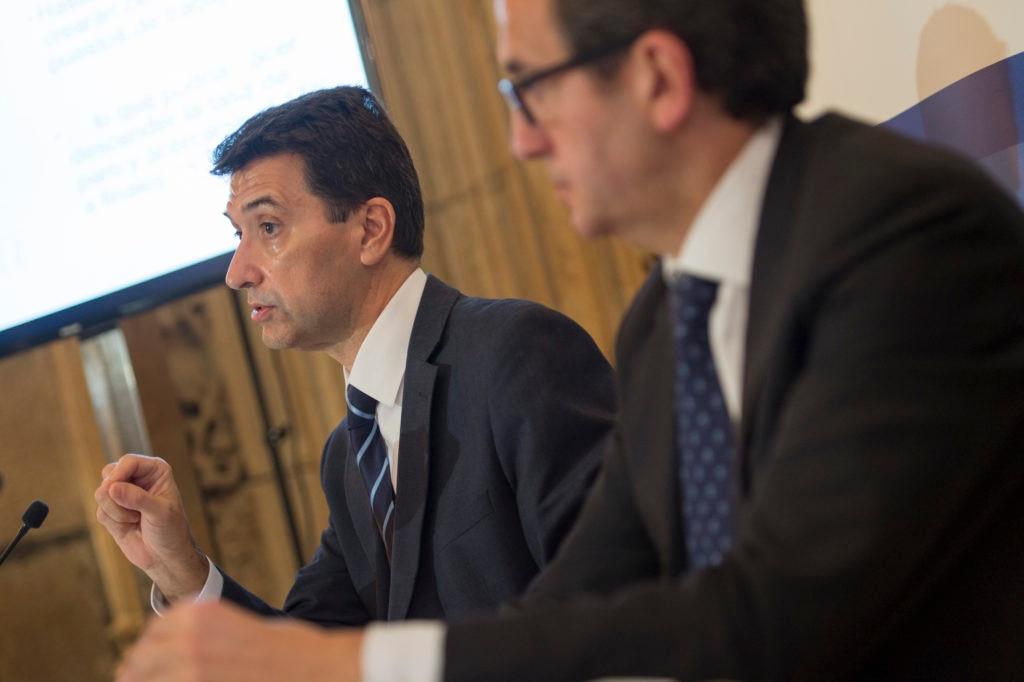 Rafael Domenech y Juan Carlos Hidalgo Presentación Informe Situación Galicia 2S15
