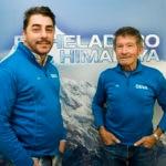 Fotografia de la presentacion del Heladero del Himalaya con Carlos Soria y Jordi Roca BBVA