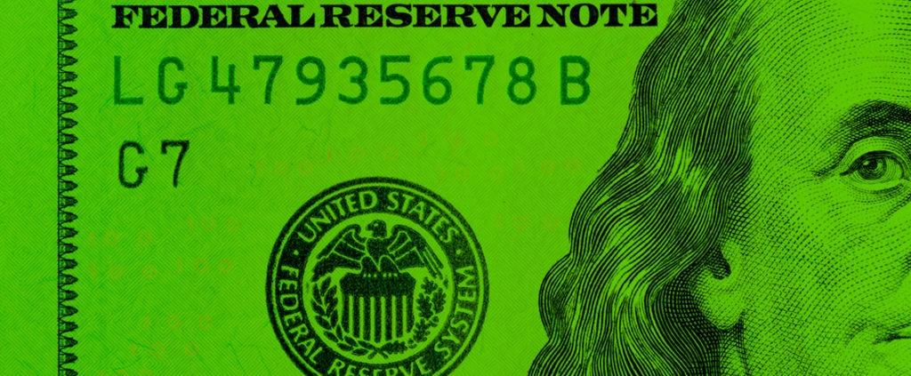 Fotografía de billete de dólar BBVA