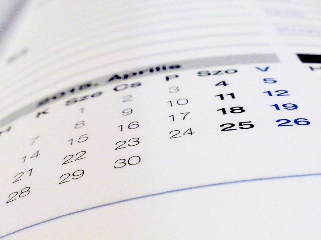 calendario agenda fecha recurso bbva