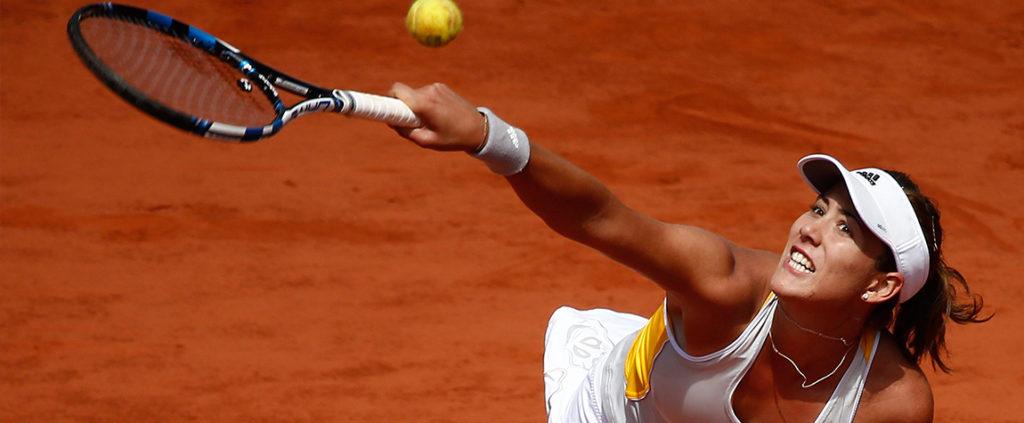 Fotografía Garbiñe Muguruza durante un partido de Roland Garros 2015
