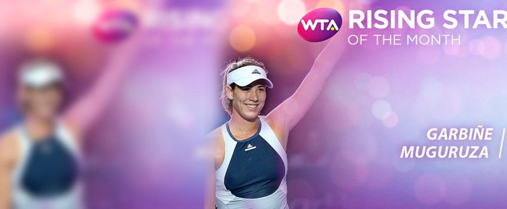Fotografía Garbiñe Muguruza es elegida estrella emergente por los seguidores de la WTA-rising star