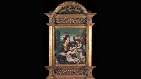 Fotografía de cuadro Virgen con el Niño y un ángel de Juan de Soreda de Colección BBVA