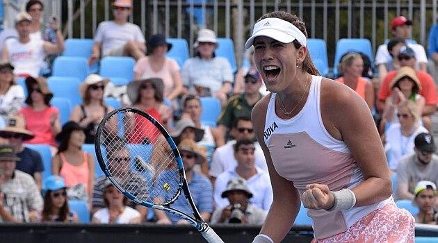 Fotografía Garbiñe en el Open de Australia 2015