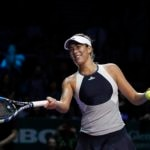 Fotografía: Garbiñe Muguruza en WTA Finals de Singapur en 2015