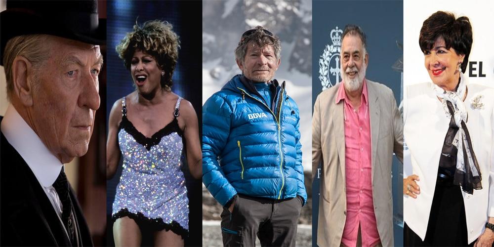 Fotografía: Ian McKellen, Tina Turner, Carlos Soria, Francis Ford Coppola y Concha Velasco