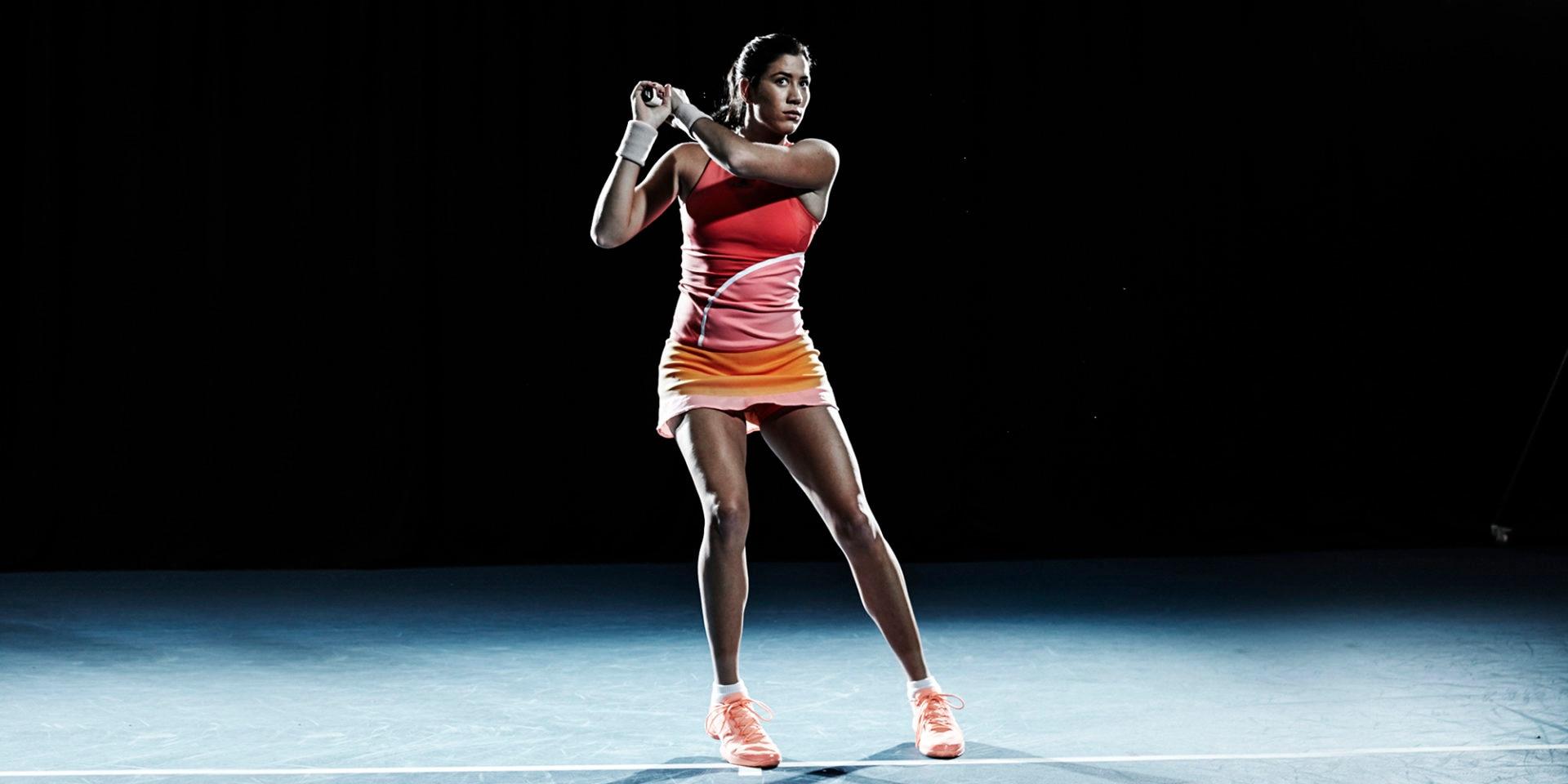 Fotografía Garbiñe estrena equipación de Adidas by Stella McCartney en el Open de Australia
