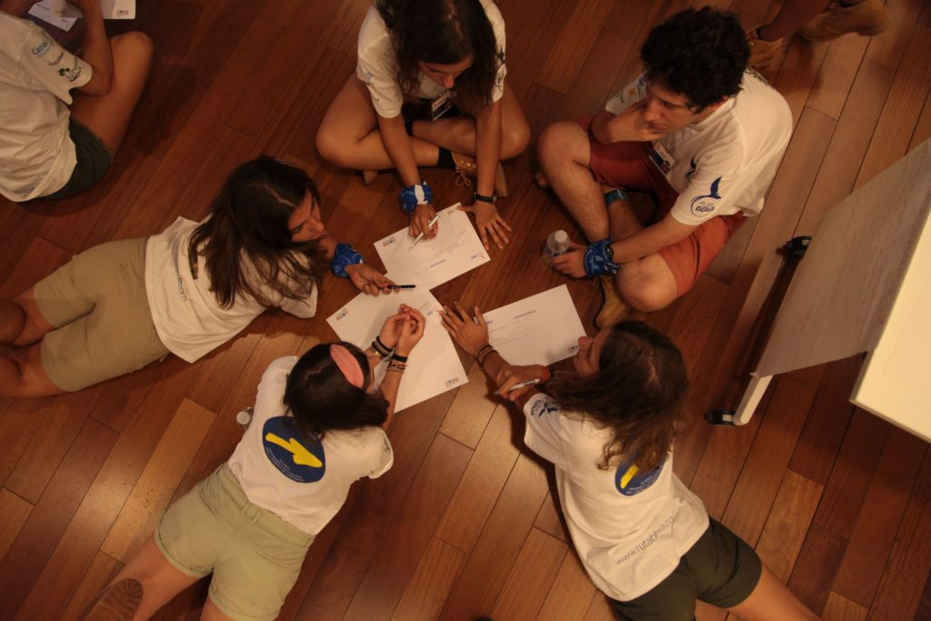 Fotografía: Ruta BBVA 2015 durante talleres de emprendimiento social