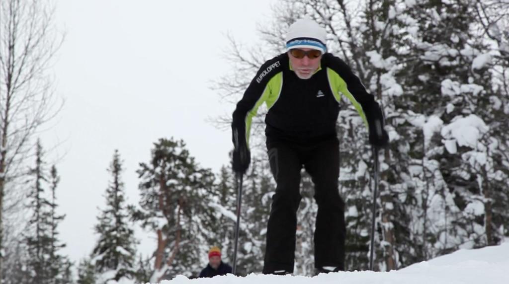 Fotografía Carlos Soria practicando esquí de fondo en Noruega