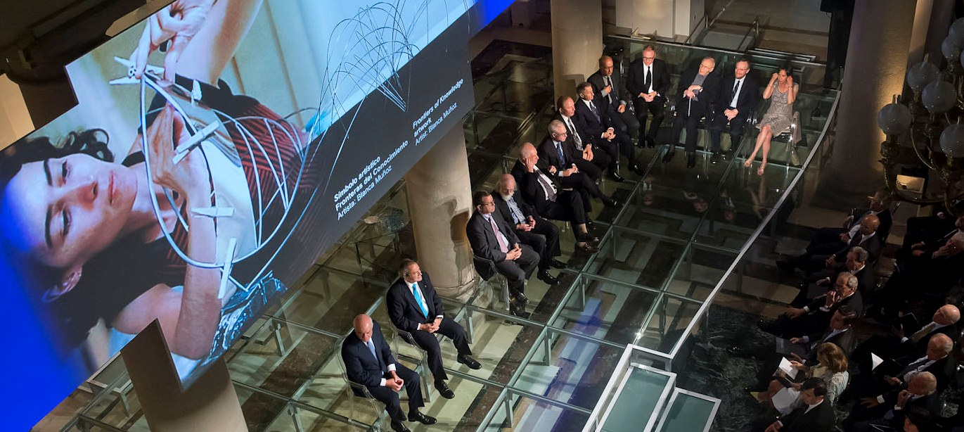 Fotografía de los premiados en la séptima edición de los Premios Fundación BBVA Fronteras del Conocimiento