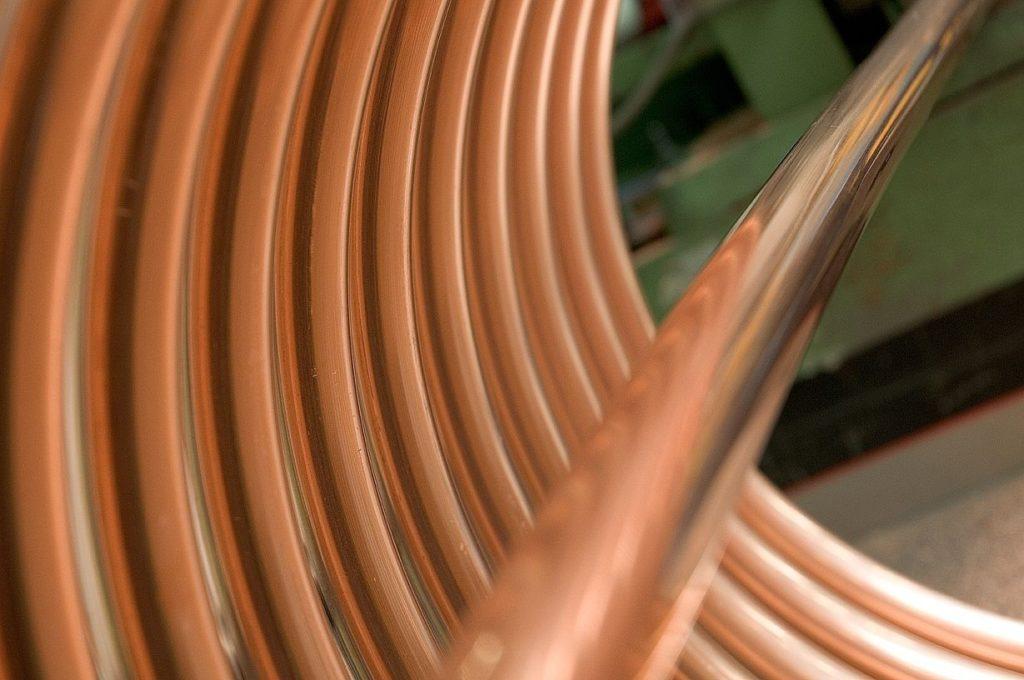 Fotografía de tubos de cobre. BBVA
