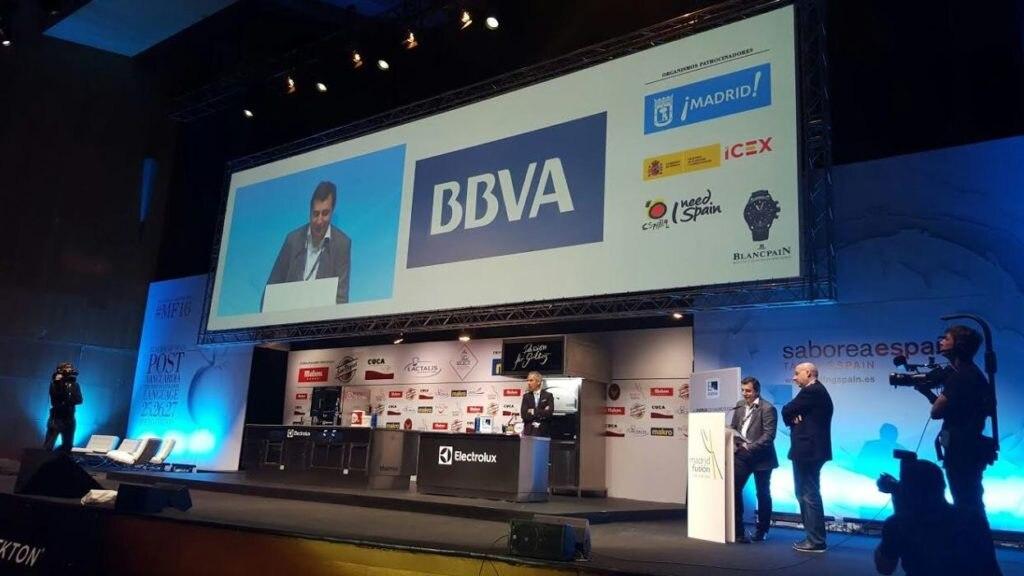 Josep Roca, durante la presentación en el congreso Madrid Fusión del segundo largometraje de BBVA y El Celler de Can Roca,