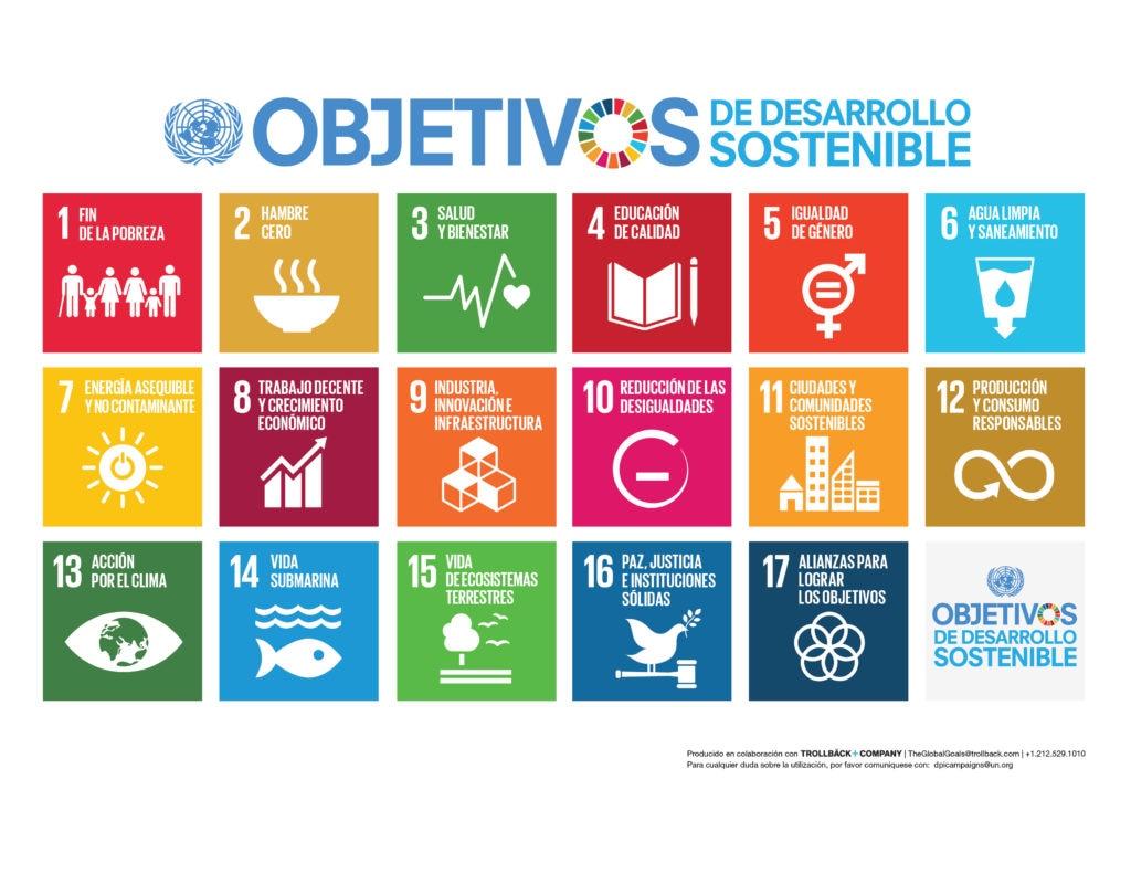 Fotografía de los Objetivos de Desarrollo Sostenible de la Agenda 2030