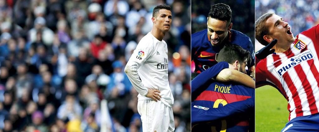 Cristiano Ronaldo, los jugadores del Barcelona y Griezmann, protagonistas de la jornada 26 de la Liga BBVA
