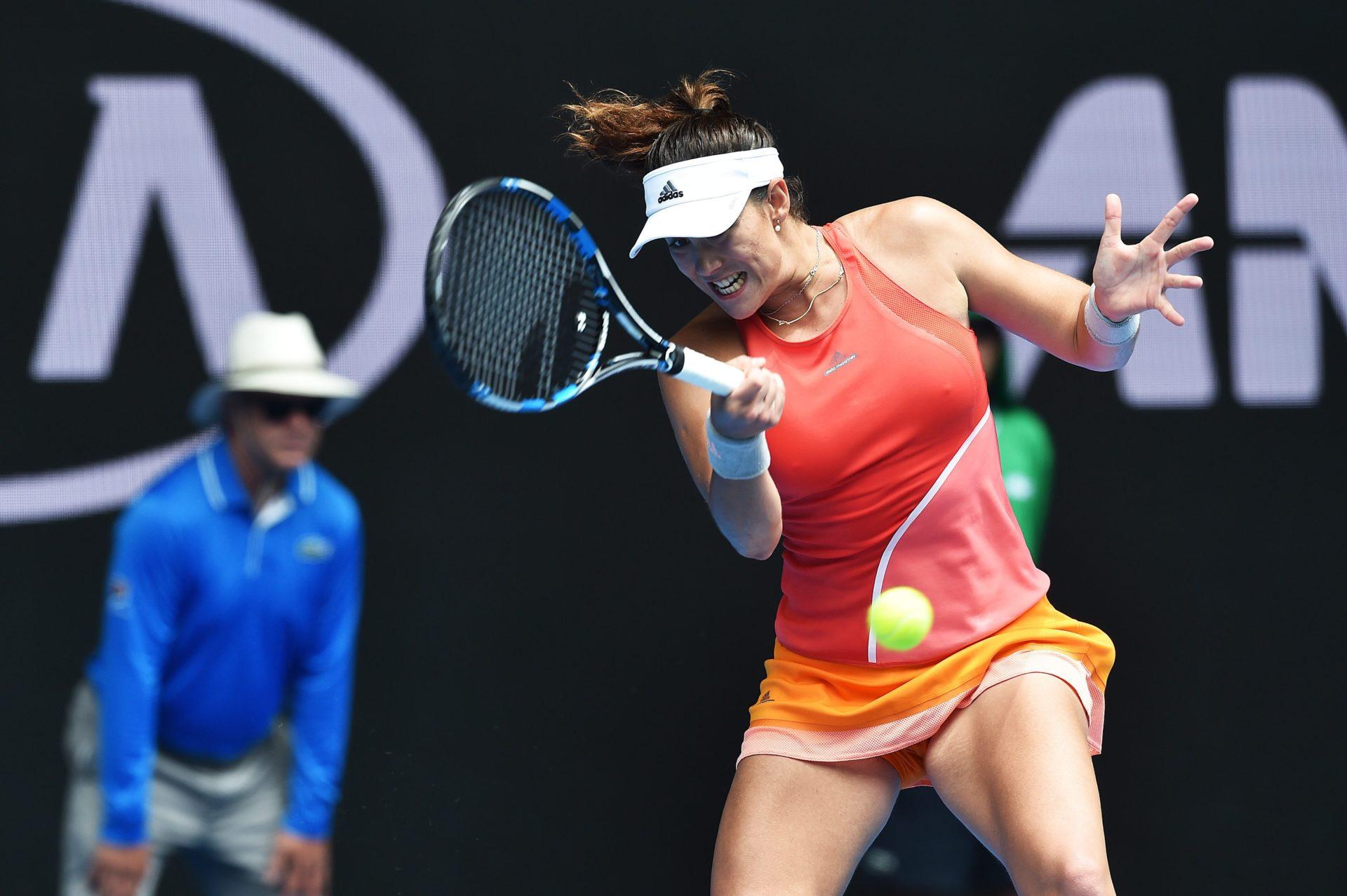 Fotografía Garbiñe Muguruza durante el partido de segunda ronda del Open de Australia