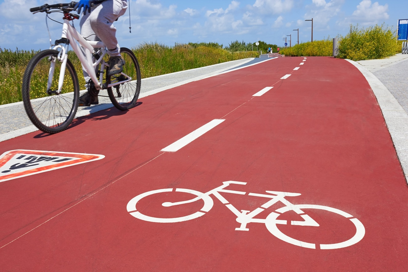 Fotografía de carril bici bicicleta naturaleza deporte