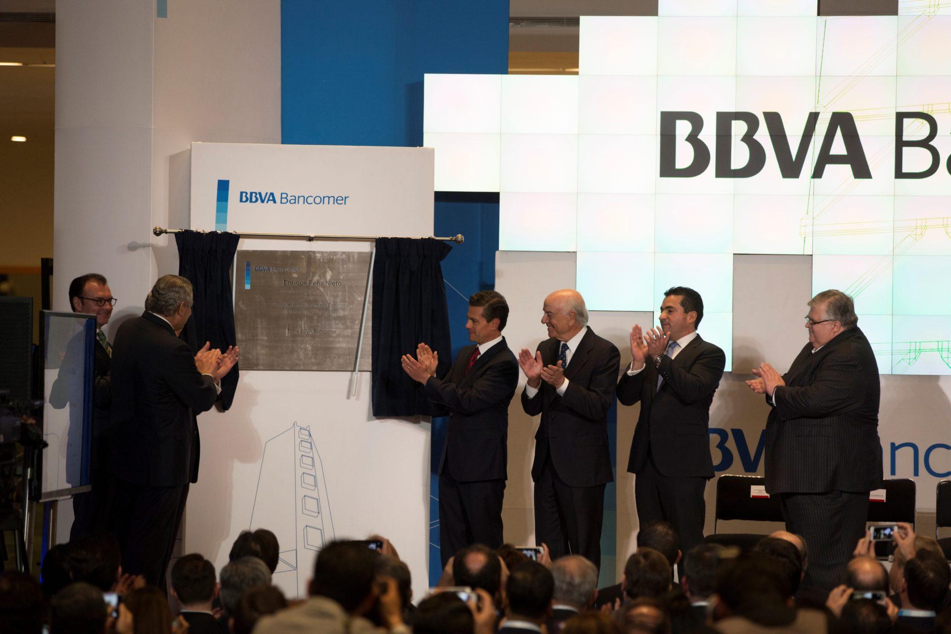 Inauguración BBVA Bancomer_ Peña Nieto y FG