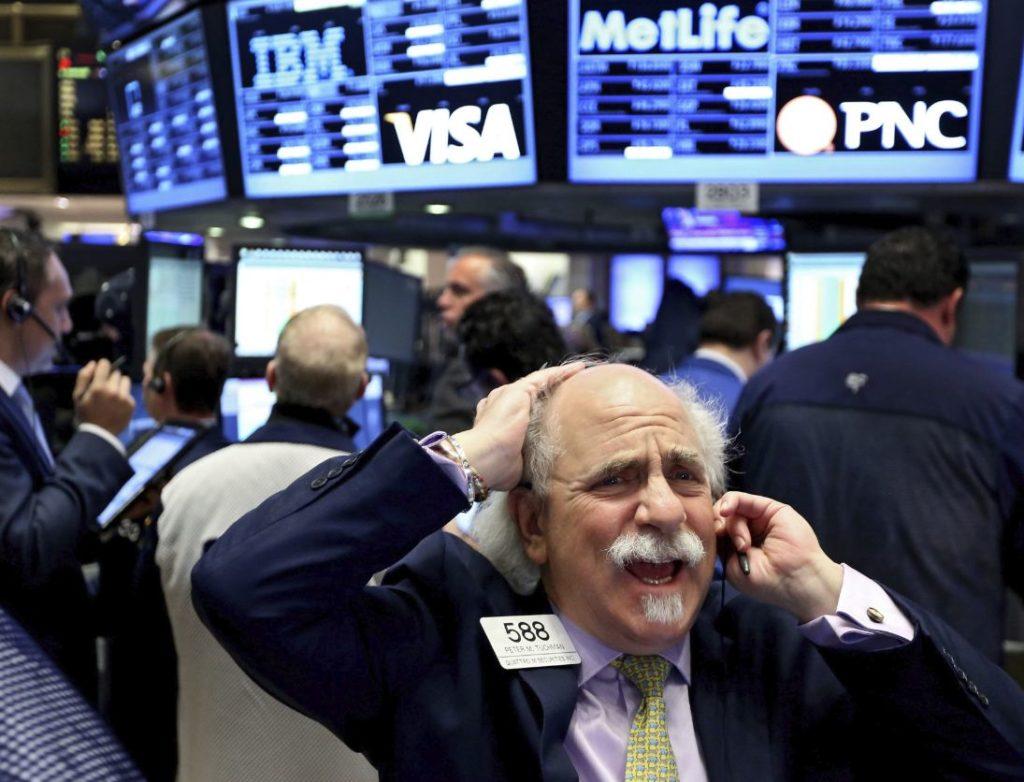 Un broker en Wall Street