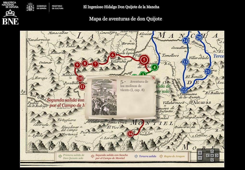 Imagen de El Quijote en versión interactiva