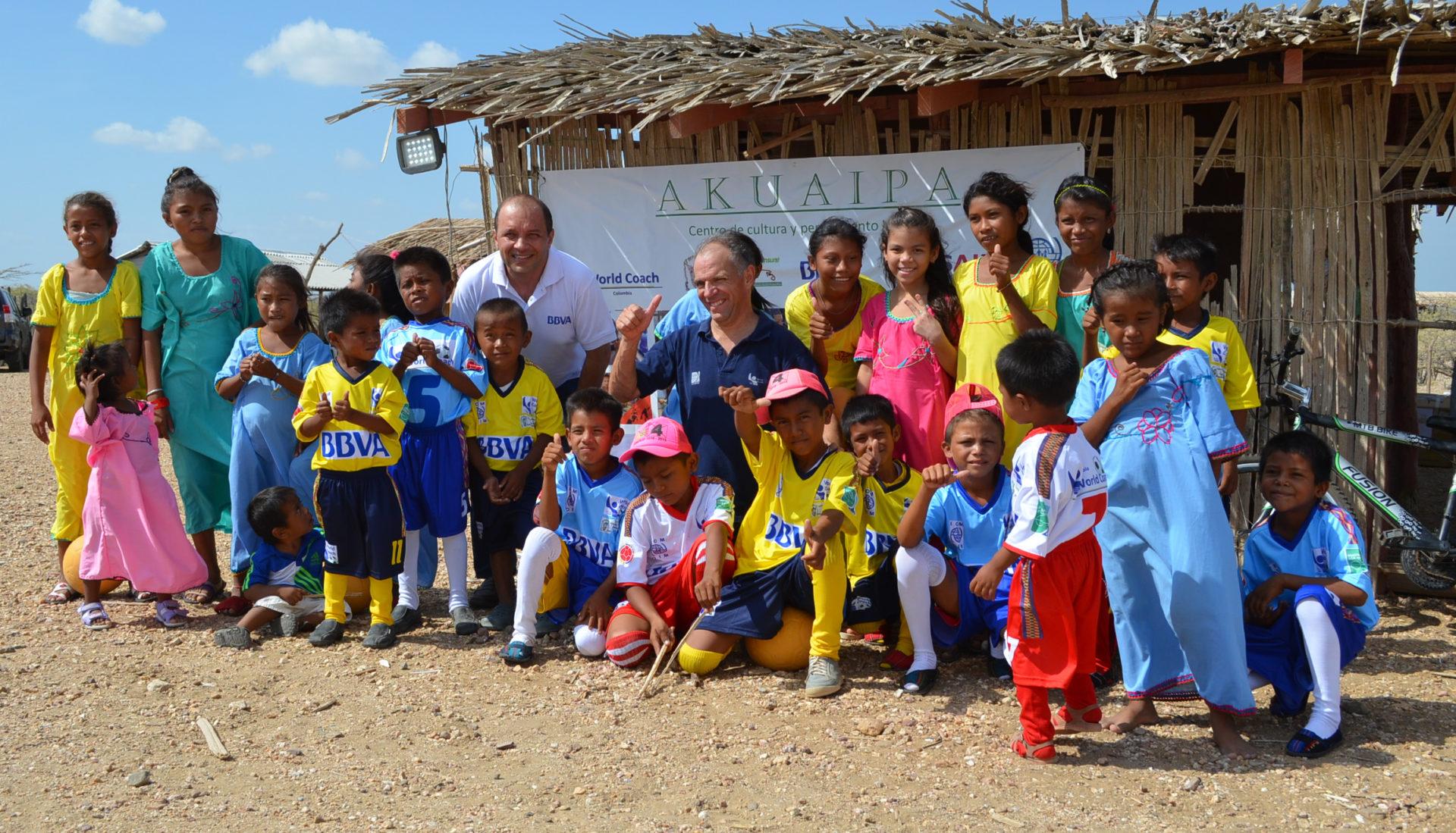 Fotografía del proyecto con la comunidad wayú.