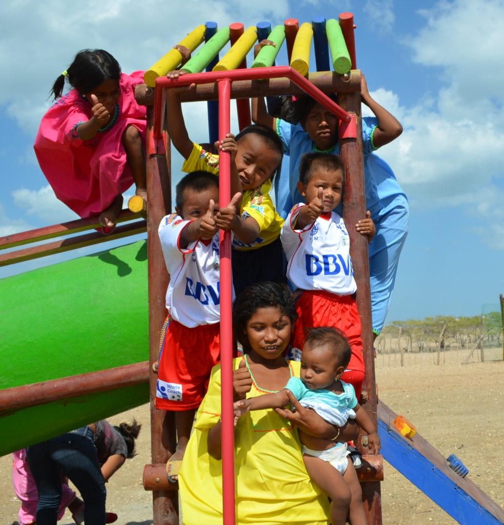 Fotografía de niños de la comunidad wayú