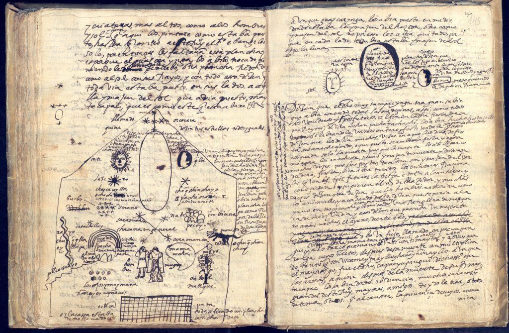 Fotografía de un libro de anotaciones del Inca Garcilaso de la Vega- BNE