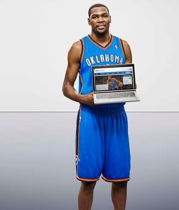 Kevin Durant, jugador de los Oklahoma City Thunder y embajador BBVA en la NBA