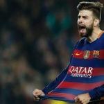 Gerard Piqué celebra un gol durante un partido del FC Barcelona | Foto: EFE