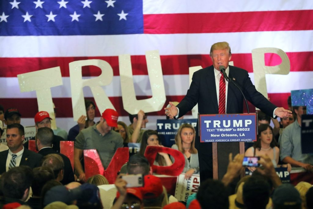 Donald Trump campaigns in New Orleans, Louisiana