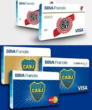 Imagen de tarjetas BBVA Francés River Plate Boca Juniors
