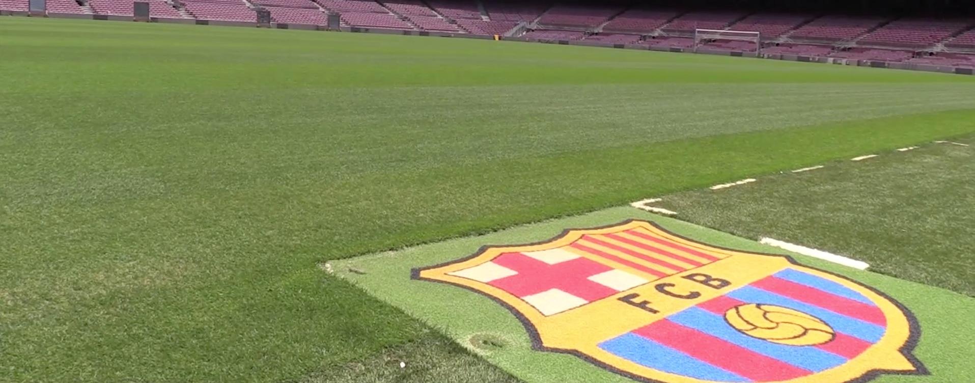 Césped del Camp Nou, estadio del FC Barcelona