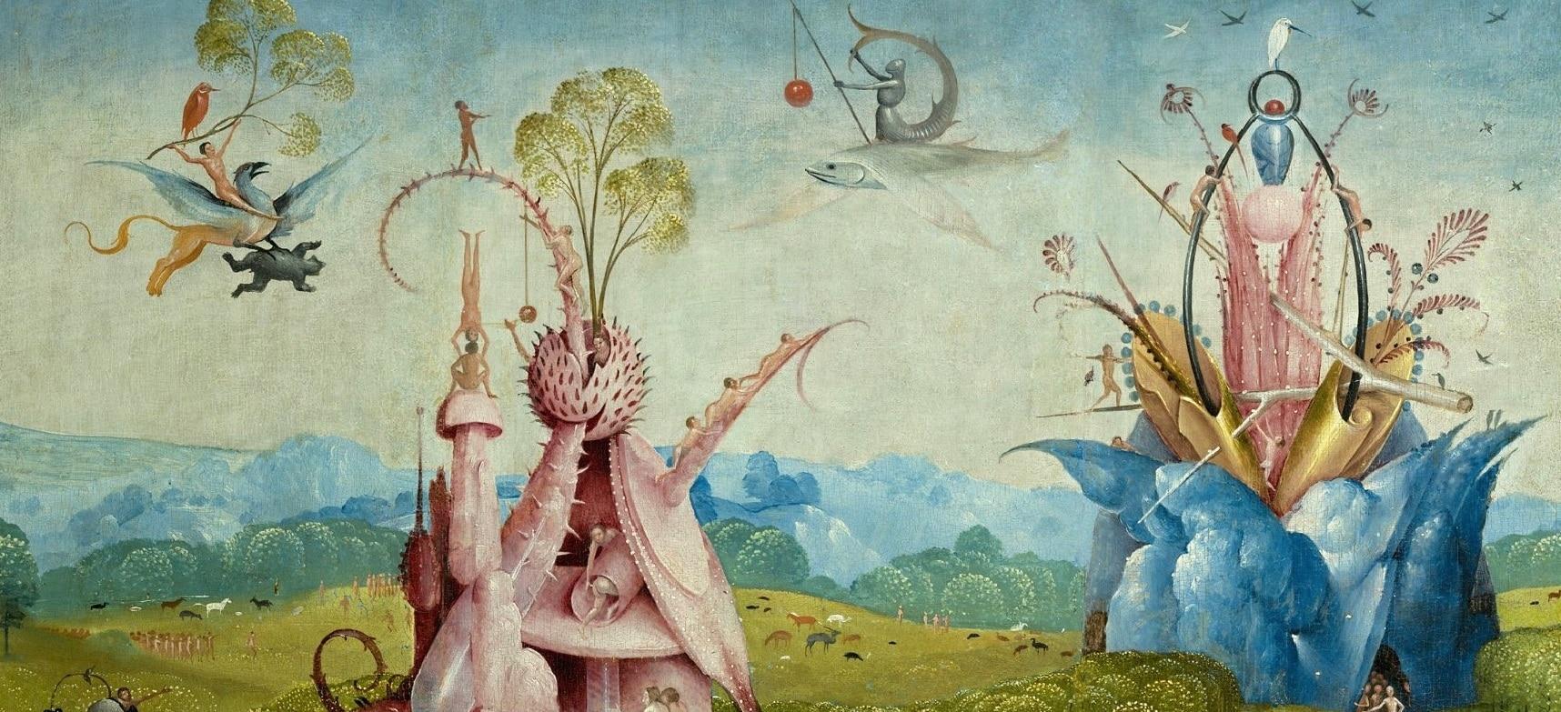 Imagen de un detalle de la obra El Jardín de las Delicias de El Bosco