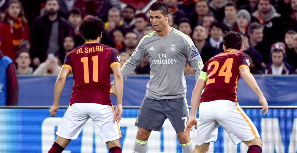 Cristiano Ronaldo, durante el partido de Liga de Campeones ante la Roma   Foto: EFE