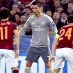 Cristiano Ronaldo, durante el partido de Liga de Campeones ante la Roma | Foto: EFE