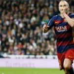 Iniesta celebra un gol anotado en el Bernabéu | Foto: EFE