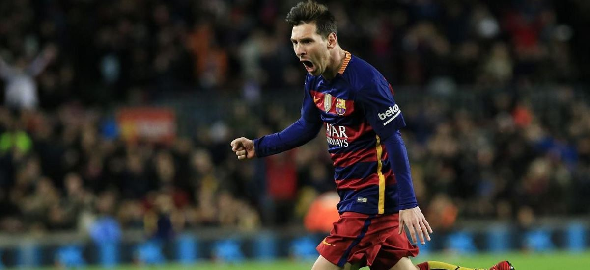 Leo Messi festeja un tanto marcado con el FC Barcelona | Foto: EFE