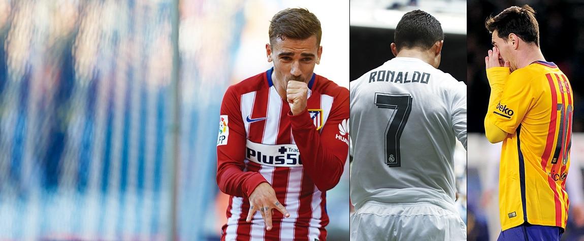 Griezmann, Cristiano y Messi, protagonistas de la jornada 32
